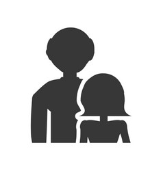 pictogram couple grandparents image vector image