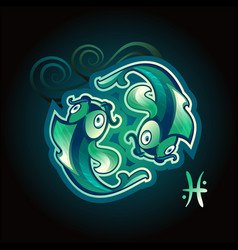 pisces zodiac sign horoscope vector image