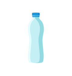 Plastic bottle with blue lid small container for vector