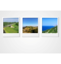 Polaroid photo frames abstract corporate design vector