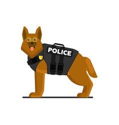 police dog in uniform vector image