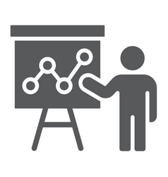 Presentation glyph icon education and seminar vector