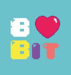 Retro videogame 8 bit concept vector