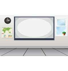 Room with white board in the center vector image