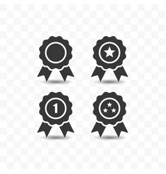 set award icon simple flat style vector image