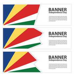 Seychelles flag banners collection independence vector
