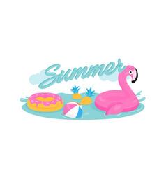 simming pool vector image