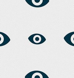 sixth sense the eye icon sign Seamless pattern vector image