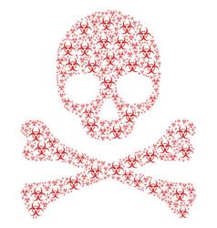 skull pattern of biohazard items vector image