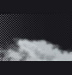 Smoke or fog on transparent background realistic vector