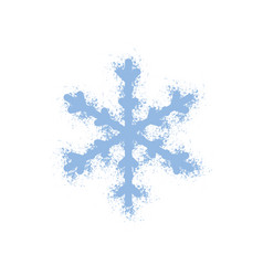 snowflake grainy isolated vector image