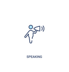 Speaking concept 2 colored icon simple line vector