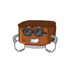 Super cool brownies character cartoon style vector
