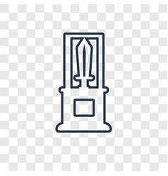 sword concept linear icon isolated on transparent vector image