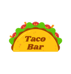 traditional mexican tacos food bar sign logo vector image
