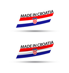 two modern colored flags with croatian tricolor vector image