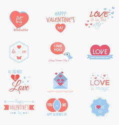 valentine badges and labels vector image