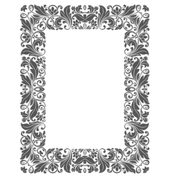 Vintage frame with floral elements vector image vector image