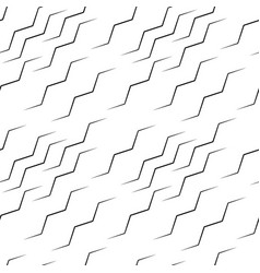 Wavy lines seamless pattern abstract monochrome vector