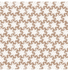 White flower pattern on brown background vector