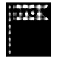 white halftone ito flag icon vector image