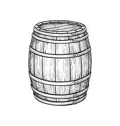 Wine or beer barrel vector image