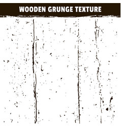 wooden grunge black texture isolated on white vector image