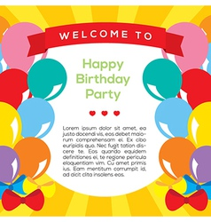 Colorful Balloons Frame Template vector image vector image