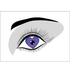 eye heart vector image