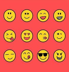 Fun Emoticon Set vector image vector image