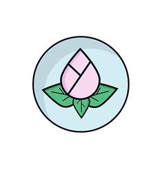Lotus Flower Flat Design vector image