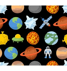 Planets of solar system seamless pattern space vector image vector image