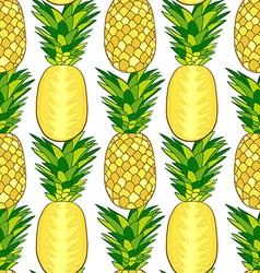 Seamless pattern of fresh pineapple vector image