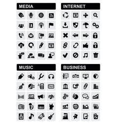 business music internet and media vector image