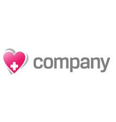 heart treatment logo vector image vector image