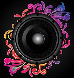 my speaker with flower behind vector image vector image