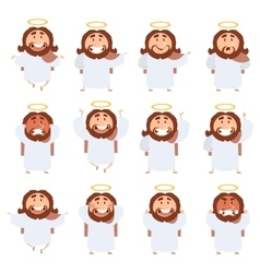 Set of Jesus icons vector image