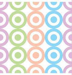 circles and dots pastel colors seamless pattern vector image vector image