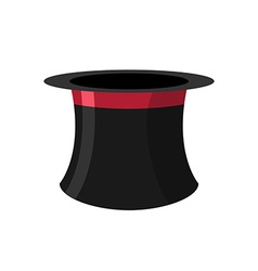 Cylinder magicians on a white background Black Hat vector image
