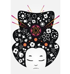japan girl vector image vector image