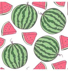 Juicy watermelon seamless pattern vector image