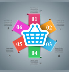 shop infographic marceting icon buy and sell vector image vector image