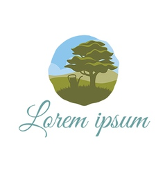 Tree logo template for landscape company vector image vector image