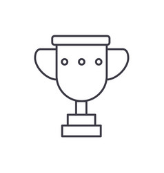 trophy cup line icon sign vector image
