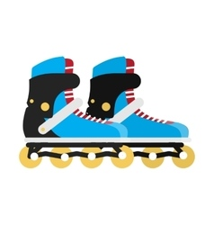 Black and Blue Roller Skate Boots Isolated on vector image vector image
