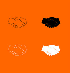 business handshake icon vector image vector image