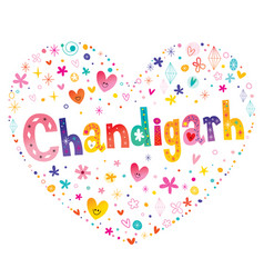 chandigarh city in india vector image