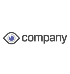 eye diagnostic and vision logo vector image vector image