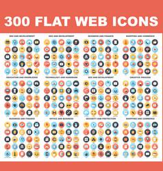 Flat web icons vector