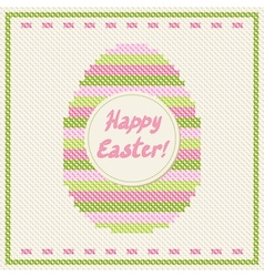 Happy Easter embroidery vector image